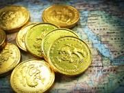 金闪闪的硬币图片_18张