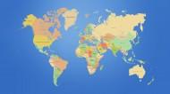 各种创意组合的世界地图图片_37张