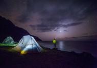 夜晚露營的帳篷圖片_16張
