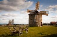 转动的荷兰风车图片_14张