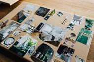 桌上的图片剪纸作品图片_10张