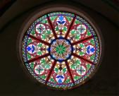 教堂玻璃彩色花窗图片_19张