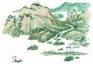 國畫石壑圖片_120張