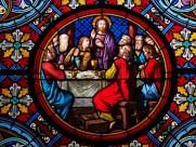 教堂玻璃彩色花窗图片_16张