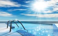 清澈的游泳池图片_13张