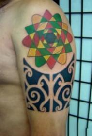 一組個人信仰的圖騰紋身圖片