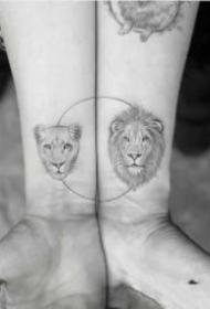 9張很好看的小清新情侶紋身圖片