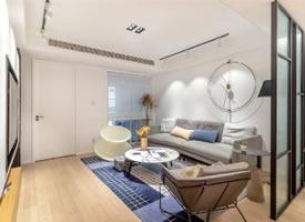 一组现代风格简洁暖和的家装修后果图