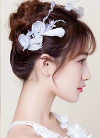 新娘中长发盘发图片 仙气实足的外型