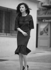 杨子珊黑白写真图片:优雅高贵