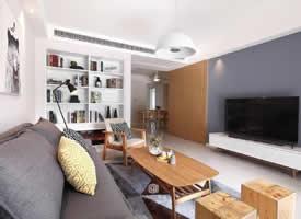 两居室搭配原木色家具的北欧风格装修效果图
