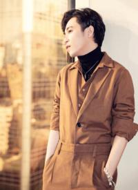 吳青峰棕色休閑帥氣寫真圖片