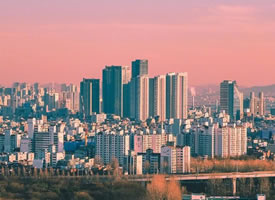 一座浪漫的城市風景圖片欣賞
