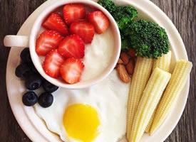 一组健康营养的水果早餐图片欣赏