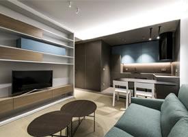 40平现代繁复单身单身公寓装修后果图