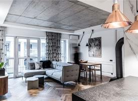 现代优雅之家,富有表现力的灰色