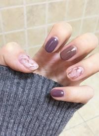 紫色美甲真是超好看色调图片欣赏