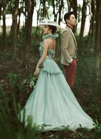 森林树木?#24184;?#32452;森系感唯美婚纱摄影图片欣赏