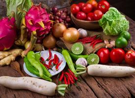 一组新鲜时令蔬菜水果图片欣赏