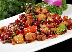 一組火辣辣的川菜辣子雞美食圖片欣賞