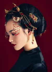 烟岚翠娇锁,星眸一澈间 新娘发型图片
