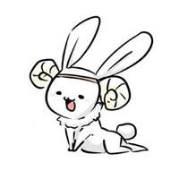 一组超级可爱的卡通兔子头像图片欣赏
