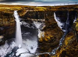 冰岛瀑布风景高清桌面壁纸