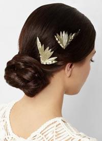 一组新娘简单唯美的盘发图片观赏