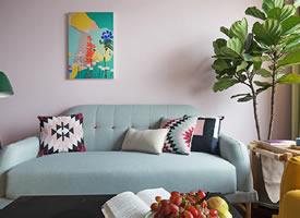 70平米粉色系北欧风装修效果图欣赏