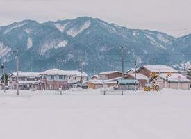 一组日本的清新美丽的雪景图片欣赏
