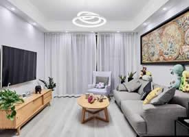 128m²舒适北欧装修效果图,轻松自然