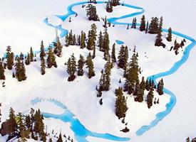 哥伦比亚的无名冰川湖,好想去一次