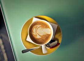 制作精美的咖啡拉花,讓人感覺清香撲鼻,提神醒腦