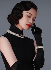 倪妮 幺幺洞捌壁纸 风情万种的复古冷艳旗袍美人 美哭