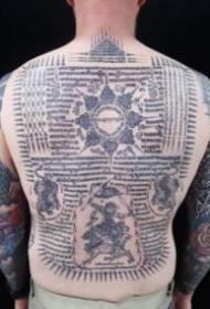 泰国独有的宗教刺符纹身图案9张