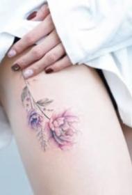 25张漂亮的女生小清爽纹身图案