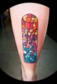 水彩风格的45张简约小清新纹身图案
