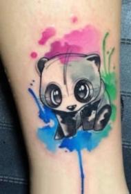 小清新的一组可爱小动物纹身图片