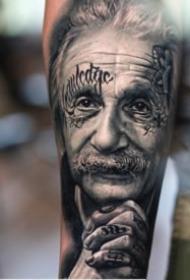 27组超写实的欧美黑色人像纹身图案