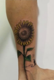 好看标一组向日葵花朵纹身图片