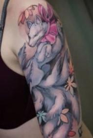 一组动漫二次元萝莉纹身作品