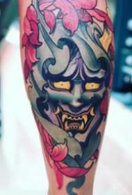 9张个性的传统般若纹身图案