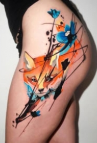 35组水彩与时尚元素结合的纹身图案