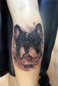 很可爱的宠物小狗狗纹身图片
