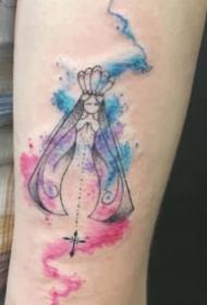 27组水彩色的小清新纹身图案