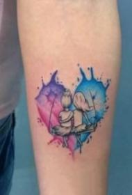 心形的創意一顆心紋身圖片