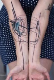 凌乱水墨线条18张写意风格的纹身图案