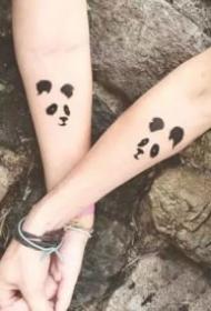 16组情侣恋人成对的好看小清新纹身