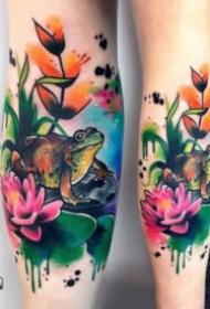 水彩色风格的一组绚丽彩色纹身图片