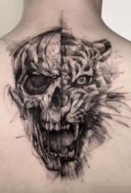 27张暗黑与点刺的双料纹身作品图片